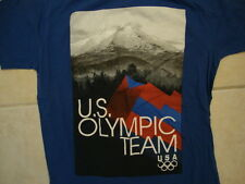 USA U.S. Olympics Olympic Team Rockie Mountains Picture Soft Blue T Shirt M