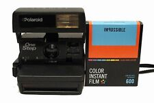 Polaroid 600 One Step Camera with NEW Impossible 600 Film with Colour Borders