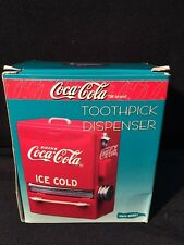 COKE TOOTHPICK DISPENSER BRIGHT RED WITH CHROME COLLECTABLE NEW IN BOX AWESOME!!