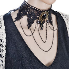 2015 fashion all-match mighty domineering Black Lace Bead Necklace woman banquet