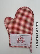 Topflappen Topfhandschuh Ofenhandschuh Küche rot weiß kariert Herz BAYRISCH