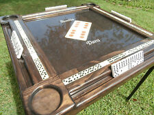 Domino Tables by Art with Wood Ornamental Domino Inlay & Kona Stain Personalized