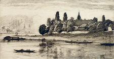 RIESA - Ansicht - Arthur Julius Barth - Radierung um 1920