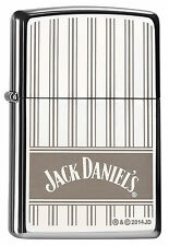 ZIPPO Feuerzeug JACK DANIELS STRIPES 2016 High Polished Chrome Whiskey NEU OVP