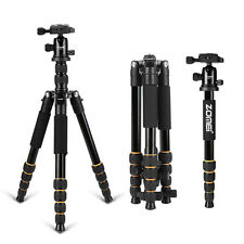 ZOMEI Q666 Portable Camera Aluminium Tripod Monopod with Ball Head for DSLR New