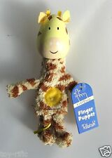 "GIRAFFE - WOODEN HEADED ""TELL A TALE"" FINGER PUPPET - FIESTA CRAFTS - BRAND NEW!"