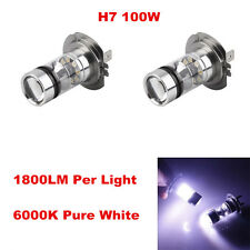 2pcs H7 100W LED 20-SMD Cree Projector Fog Driving DRL Light Bulbs HID White