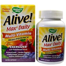 Nature's Way, Alive! Max6 Daily Multi-Vitamin, 90 Vcaps