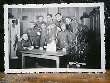 Photo argentique guerre 39 45 soldat Allemand wehrmacht WWII 2 groupe Nouvel an