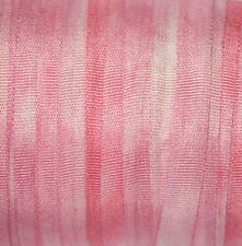 Hand Dyed Silk Ribbon 4mm - 3 meters Pink Hyacinth