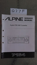 Alpine 7164 Service Manual Original Porsche car radio tuner cassette tape player