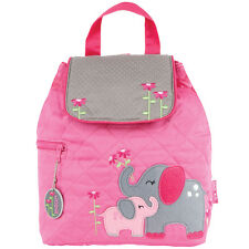 Stephen Joseph Girls Quilted Elephant Backpack - Cute Toddler Preschool Bags