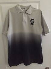 A Bathing Ape BABY MILO Grey/Platinum/ Black Polo Sz Large
