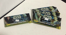Set of 4 packs Topps Star Wars Episode 1 Widevision Trading Cards Series 2 (two)