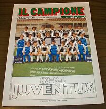 IL CAMPIONE poster-story 4/1984 JUVENTUS 83-84 maxi poster Guerin Sportivo