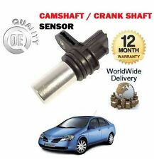 FOR NISSAN PRIMERA 2.0 2/2002 - 2006 CAM SHAFT OR CRANK SHAFT SENSOR 23731-6N20