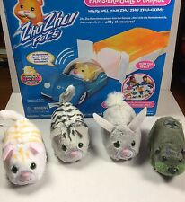 4 Hamsters Fur Real 2007 Zhu Zhu Pets Add-On Garage  Hamstermobile Car Kung Zhu
