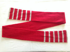Cashmere Long Thin Scarf in Red