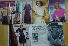 Burda Mode 75/12 Mieder Samt Satin Jersey Leder Weihnacht 70er J Modezeitschrift