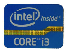 INTEL CORE i3  BLUE STICKER LOGO AUFKLEBER 21x16mm (100)