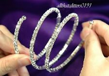 Gorgeous Crystal / Diamante Wrap Around Expandable Bracelet / Bangle