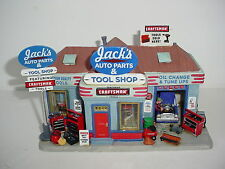 Lemax Village Jack's Auto Parts and Tools Lighted Building Sears Craftsman