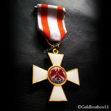 ORDER OF THE RED EAGLE 2ND CLASS KNIGHTS MILITARY MEDAL PRUSSIA WW1 =REPLICA.
