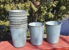 4 OLD GALVANIZED Sap Buckets Maple Syrup GREAT W@W!! ~NEED MORE?