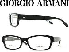 GIORGIO ARMANI GA890 807 BLACK BOLD PLASTIC EYEGLASSES 51-16-135 ITALY NEW RX