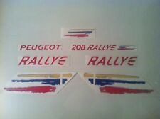 KIT COMPLET, Stickers autocollants  Peugeot 208 RALLYE