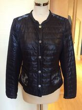 Gerry Weber Short Jacket Size 20 BNWT Navy, Lace Detail RRP £150 NOW £67