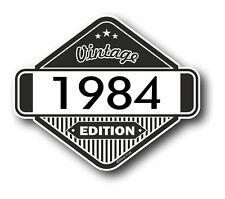 Vintage Edition 1984 Classic Retro Cafe Racer Style Vinyl Motorcycle car sticker