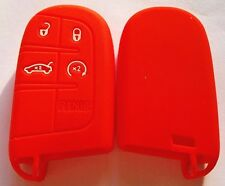 RED SILICONE SMART KEY COVER for JEEP DODGE CHRYSLER 300C CHARGER GRAND CHEROKEE