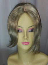 18/22 - Lt. Brown/Blonde Rihanna Straight Wig, Asymmetrical Front, Skin Top