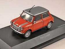 MINI COOPER in Red with Silver roof 1/43 scale model SCHUCO