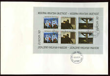 Croatia 1993 Europa, Art Sheetlet FDC #V2225