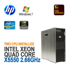 HP Z600 Workstation 2x XEON X5550 2.66GHz, 24GB, 1TB, FX1700, Windows 7 Pro