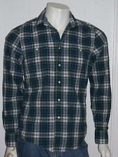 MEN'S LEVI'S WESTERN PLAID SNAP BUTTON LONG SLEEVE SHIRT SIZE SMALL BLUE GREEN