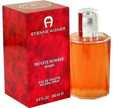 PRIVATE NUMBER by Etienne Aigner 3.4 oz / 100 ML EDT Spray Women - NEW IN BOX