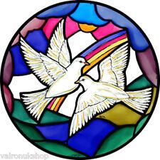 Vidriera Arte-estática Decoración-palomas de la paz