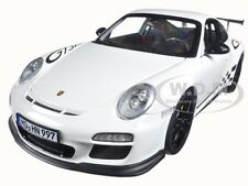 2010 PORSCHE 911 GT3 RS WHITE AND BLACK TRIM 1/18 DIECAST MODEL BY NOREV 187561