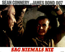 James Bond - Sag niemals nie ORIGINAL Aushangfoto Sean Connery / Kim Basinger
