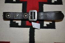 Ralph Lauren RRL Stud Distressed Tooled Leather Belt 42