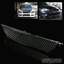 For 01-05 Lexus IS300 JCE10 Altezza VIP Black Mesh Front Sport Hood Grill Grille