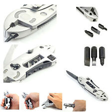 Multi tool Set Adjustable Wrench Jaw+Screwdriver+Pliers+Knife Survival Gear New