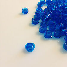100+ NEW LEGO Transparent Blue 1x1 Round Plates (ID 30057) dot stud cap water