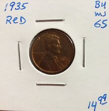 1935 1C RD Lincoln Cent