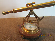 MARITIME BRASS COMPASS, TELESCOPE COMBINATION
