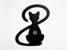 Cat With Big Tail Silhouette -Wall Hook / Coat Hook / Key Hanger