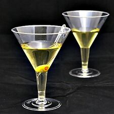 12 x LARGE CLEAR PLASTIC PARTY MARTINI COCKTAIL MOCKTAIL GLASS GLASSES 200ml